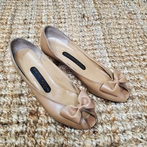 Vintage The 925 Collection Bow Tie Peep Toe Flats